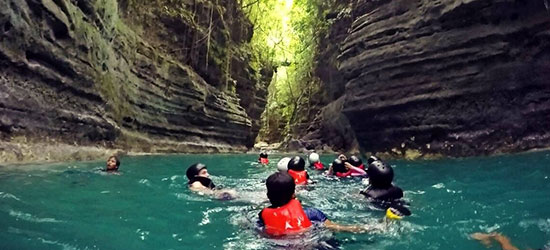canyoneering tour package badian